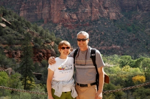 Mare and I in Zion National Park