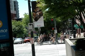 Nude cyclists; how wonderfully frivolous!