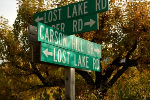 I'm at a crossroads; fortunately, I'm not going to Lost Lake.