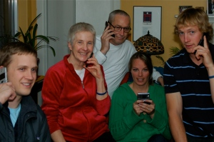 My crazy family: Noah, Marilyn, Me, Nikki (future daughter-in-law), & Isaac
