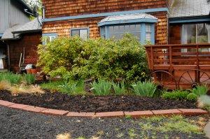 Flowerbed awaiting perennials