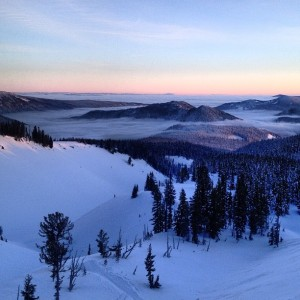 The inversion layer seen from Timberline ski area. Compliments of Nimbus Independent