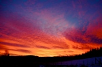 Morning sky on fire