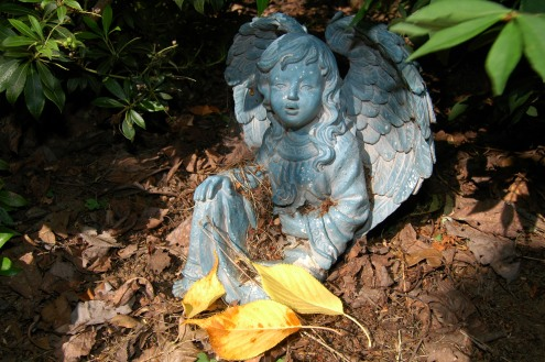 A Guardian Angel Came With Our Garden