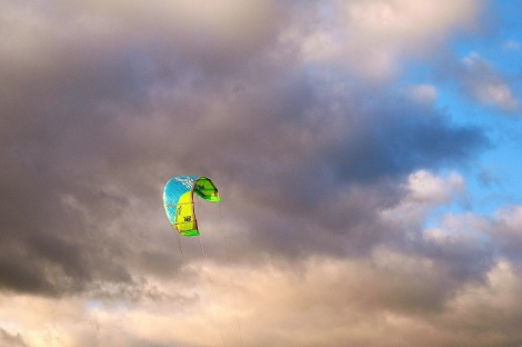 January 3rd 2014 kite sailing!