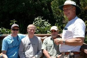 The four boys, (L-R) Me, Tom, Butch, and Jim