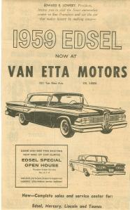 Ad for Van Etta Motors