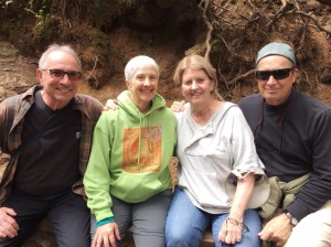 2016. Atop Marymere Falls. Kevin, Marilyn, Arlene, and me.