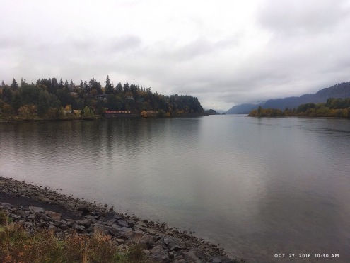 A windless day on the Columbia River.