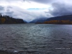 Strong westerlies create a back current on the Columbia River.