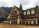 The Prince of Wales Hotel at Waterton Lake.