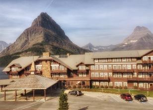 The Many Glacier Hotel.