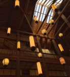Ceiling of Many Glacier Lodge.
